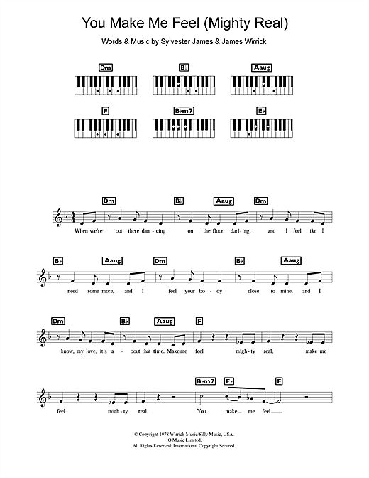 You Make Me Feel (Mighty Real) Sheet Music