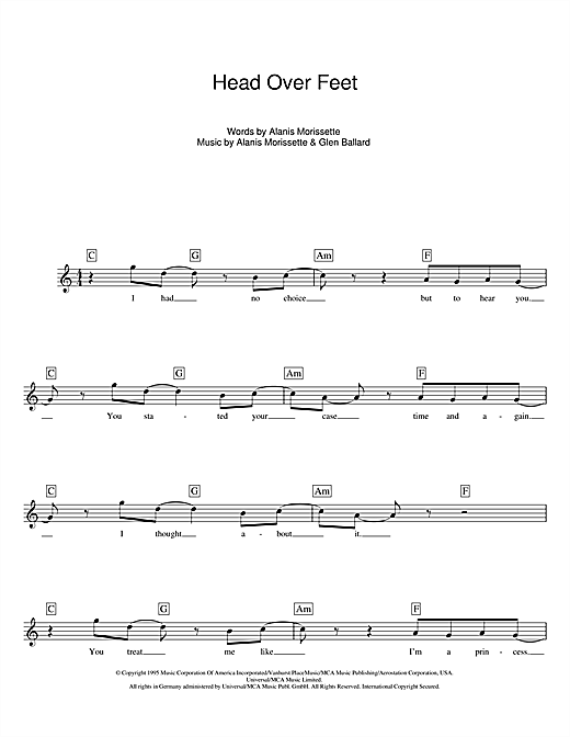Head Over Feet Sheet Music