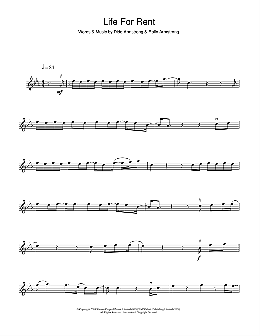 Life For Rent Sheet Music