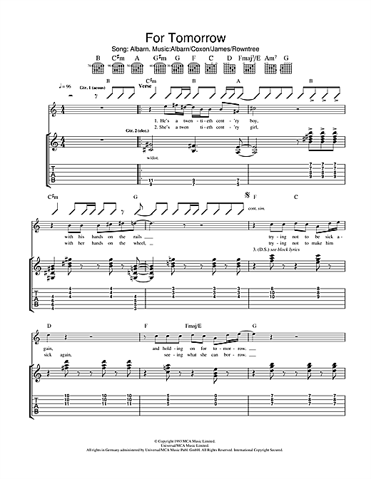 For Tomorrow Sheet Music