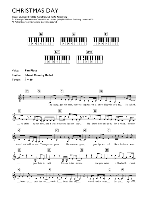 Christmas Day Sheet Music