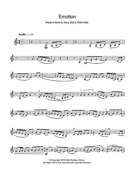Emotion Sheet Music