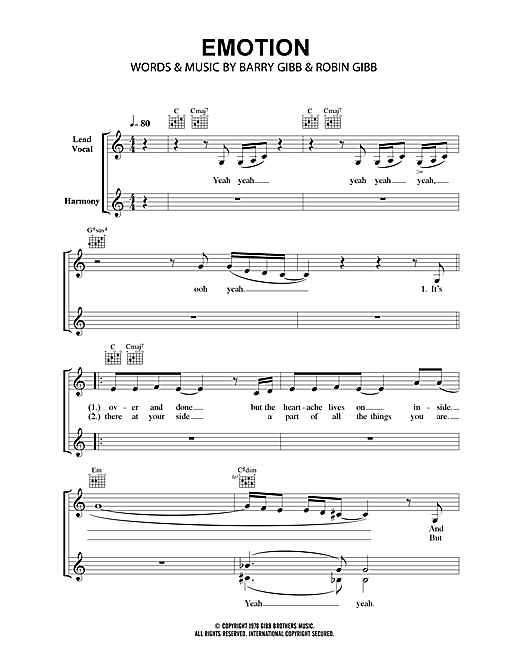 Emotion (Lead Sheet / Fake Book)