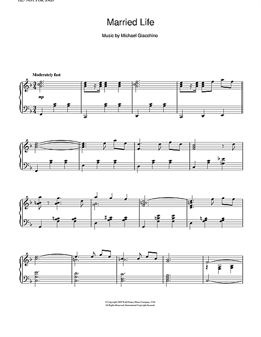 Married Life (from Up) Sheet Music