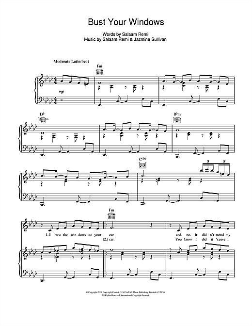 Bust Your Windows Sheet Music