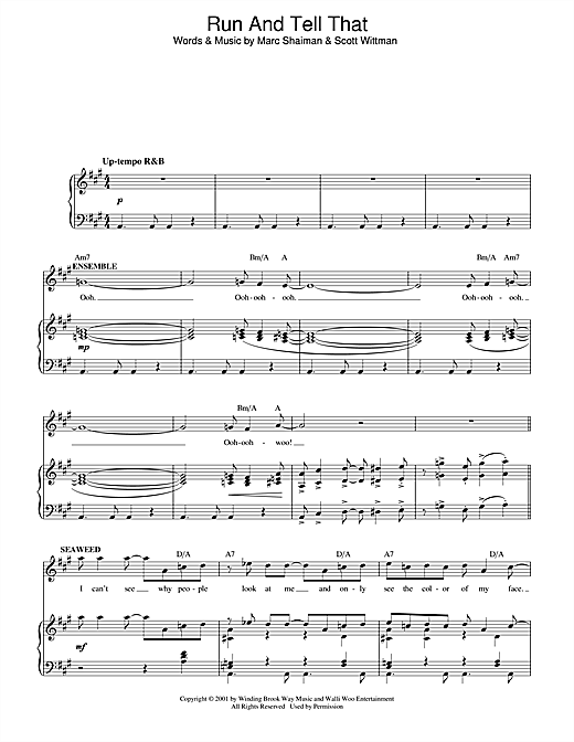 Run And Tell That (from Hairspray) Sheet Music