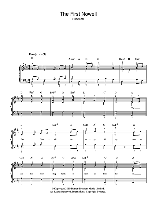 Partition piano The First Nowell de Christmas Carol - Autre