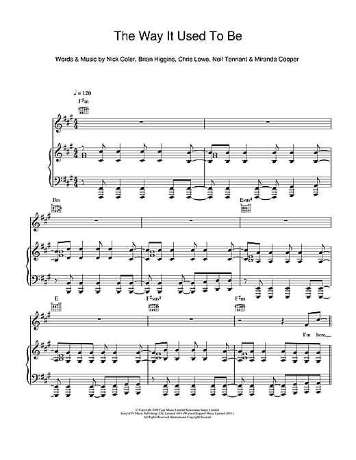 The Way It Used To Be Sheet Music