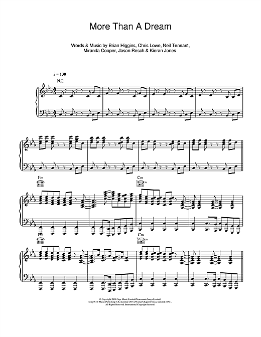 More Than A Dream Sheet Music