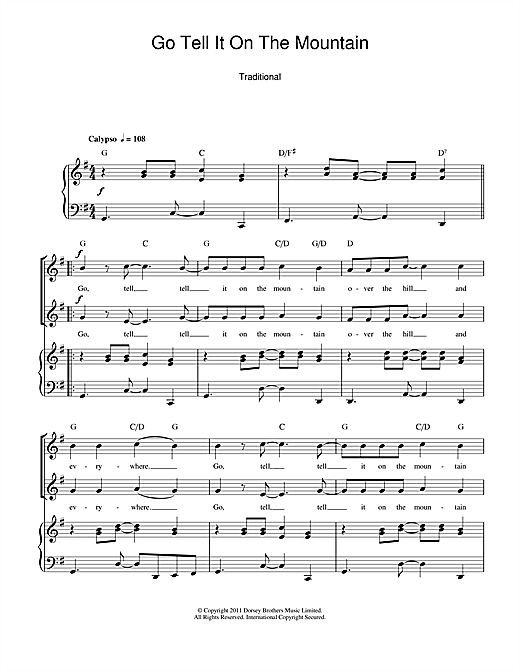 Go Tell It On The Mountain Sheet Music