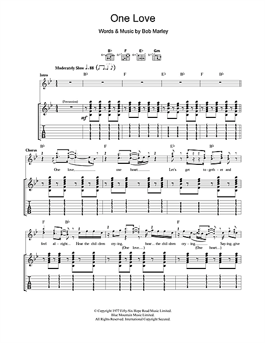 One Love Sheet Music