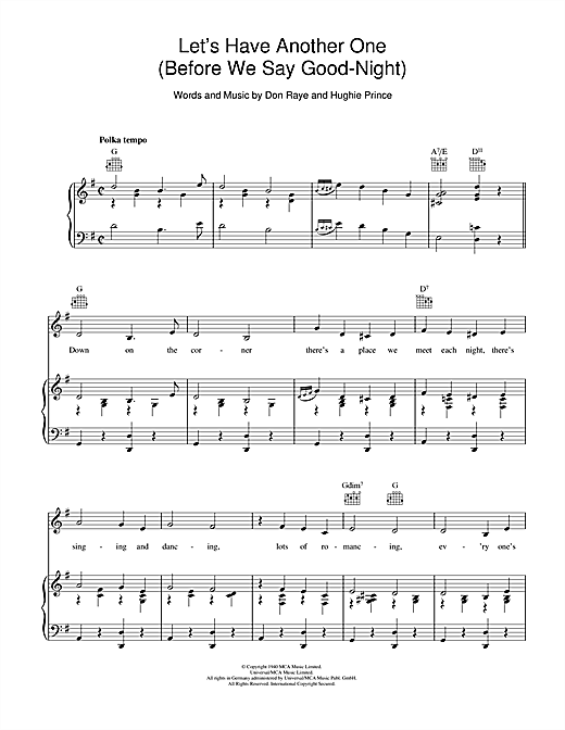 Let's Have Another One Sheet Music
