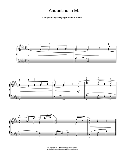 Andantino in E Flat Sheet Music