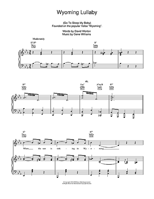 Wyoming Lullaby Sheet Music