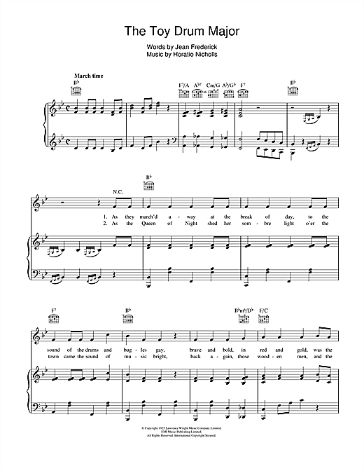 The Toy Drum Major Sheet Music