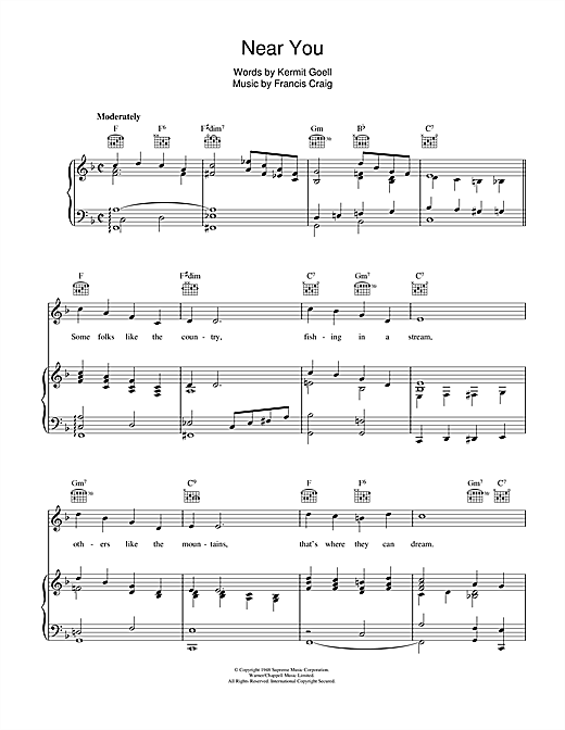 Near You Sheet Music