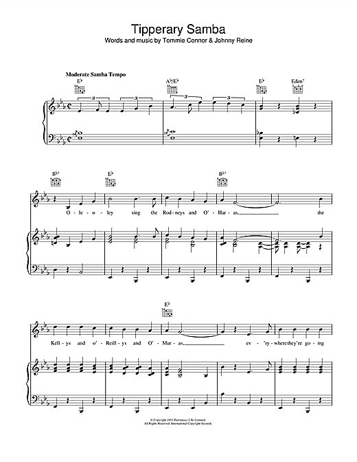 Tipperary Samba Sheet Music