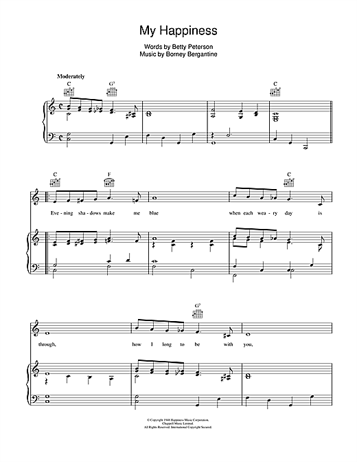 My Happiness Sheet Music