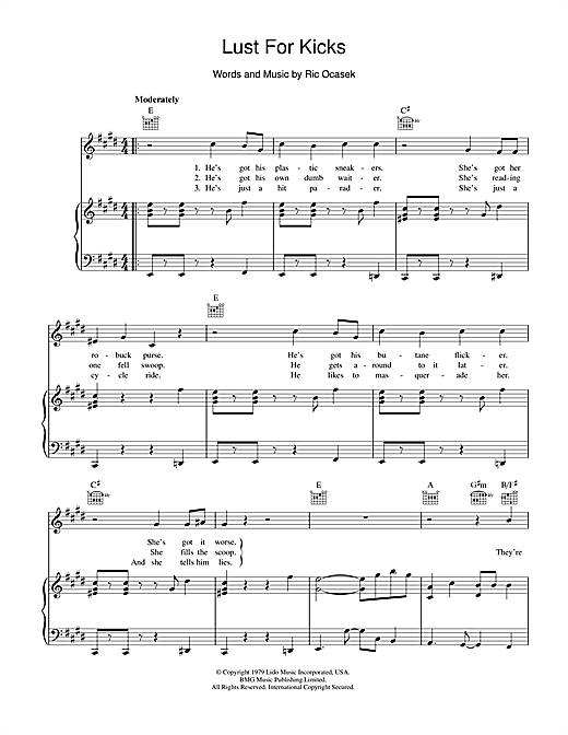 Lust For Kicks Sheet Music