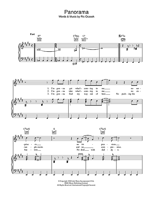 Panorama Sheet Music