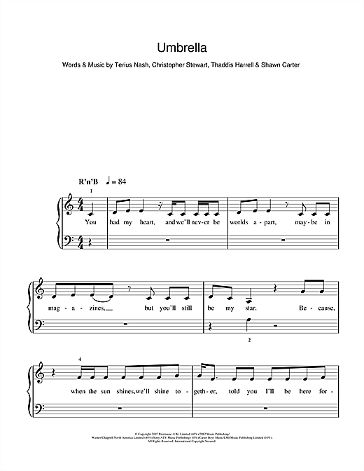 Umbrella (feat. Jay-Z) Sheet Music