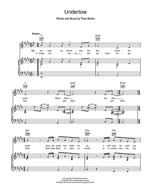 Undertow Sheet Music
