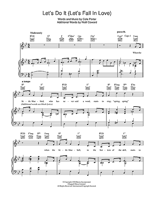 Let's Do It (Let's Fall In Love) Sheet Music