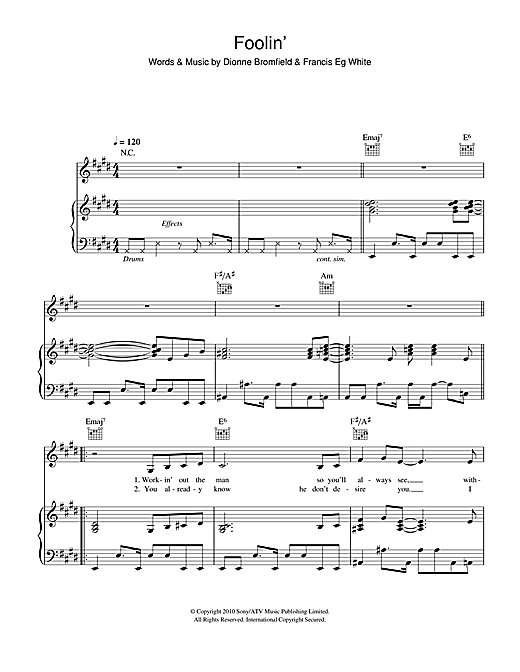 Foolin' Sheet Music