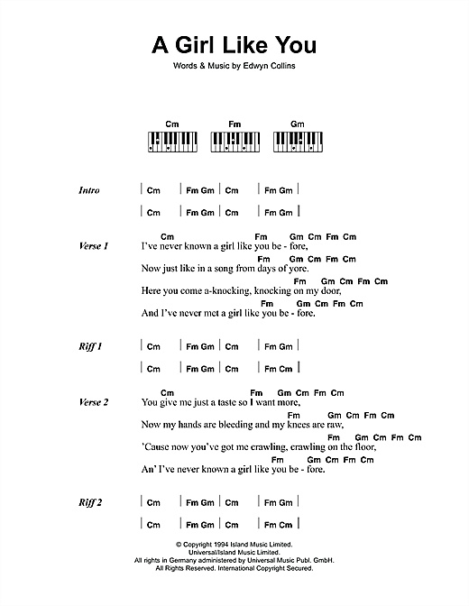 A Girl Like You Sheet Music