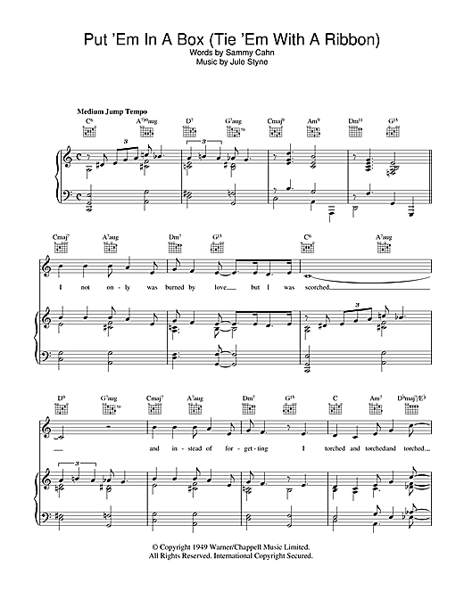 Put 'Em In A Box (Tie 'Em With A Ribbon) Sheet Music