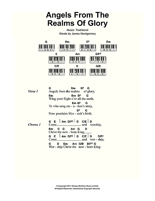 Angels From The Realms Of Glory sheet music by Christmas Carol ...