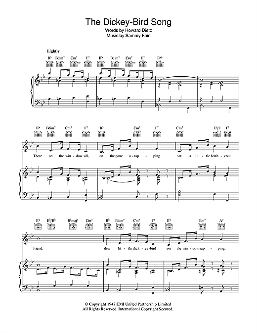 The Dickey-Bird Song Sheet Music