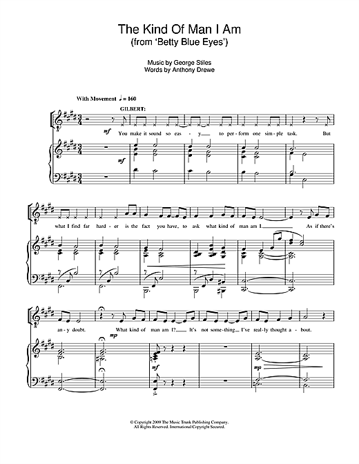The Kind Of Man I Am (From 'Betty Blue Eyes') Sheet Music