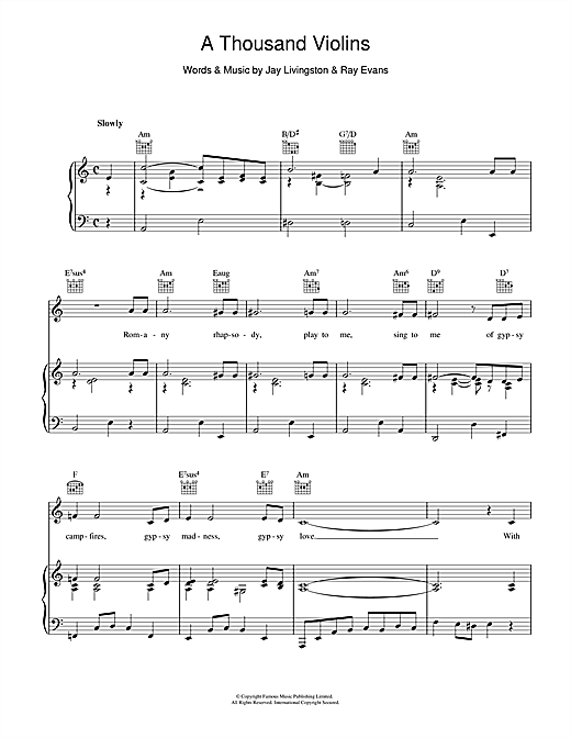 A Thousand Violins Sheet Music