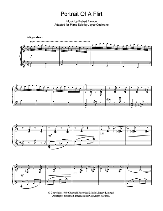 Partition piano Portrait Of A Flirt de Robert Farnon - Piano Solo