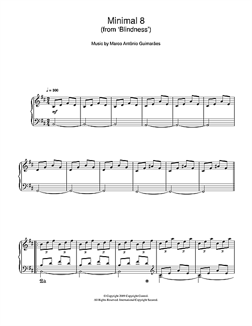 Minimal 8 (From 'Blindness') Sheet Music
