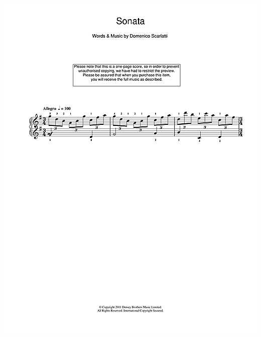 Sonata In G Major Sheet Music