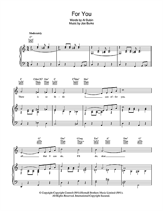 For You Sheet Music