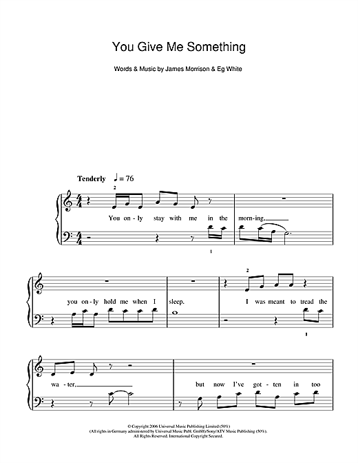 You Give Me Something Sheet Music