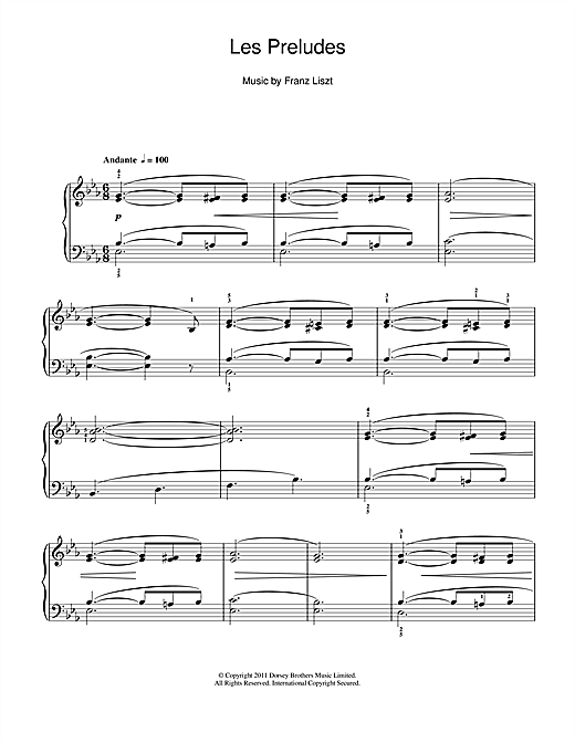 Les Preludes Sheet Music