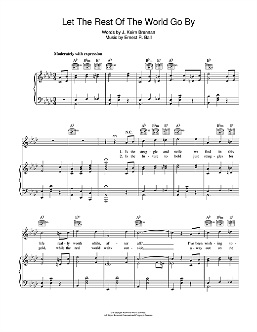 Let The Rest Of The World Go By Sheet Music