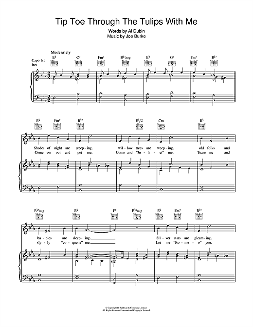 Tip Toe Through The Tulips With Me Sheet Music