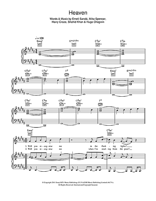 Heaven Sheet Music