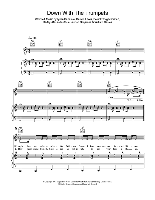 Down With The Trumpets Sheet Music