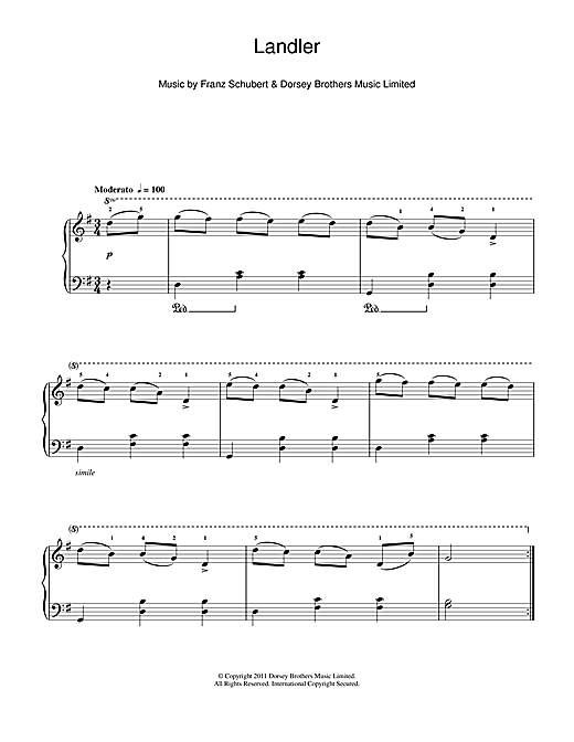 Landler Sheet Music