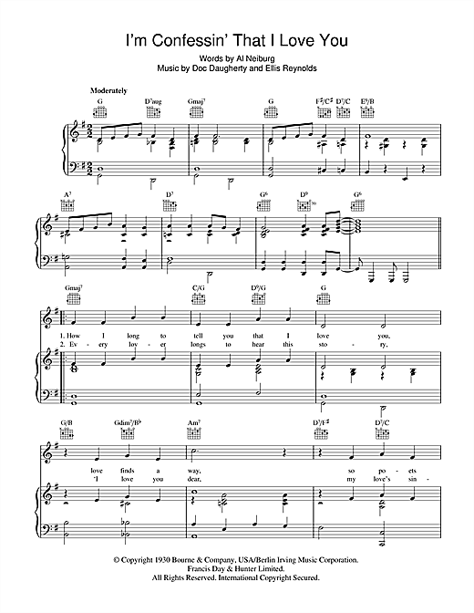 I'm Confessin' That I Love You Sheet Music