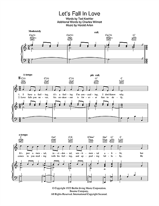 Let's Fall In Love Sheet Music