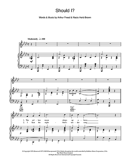 Should I Sheet Music