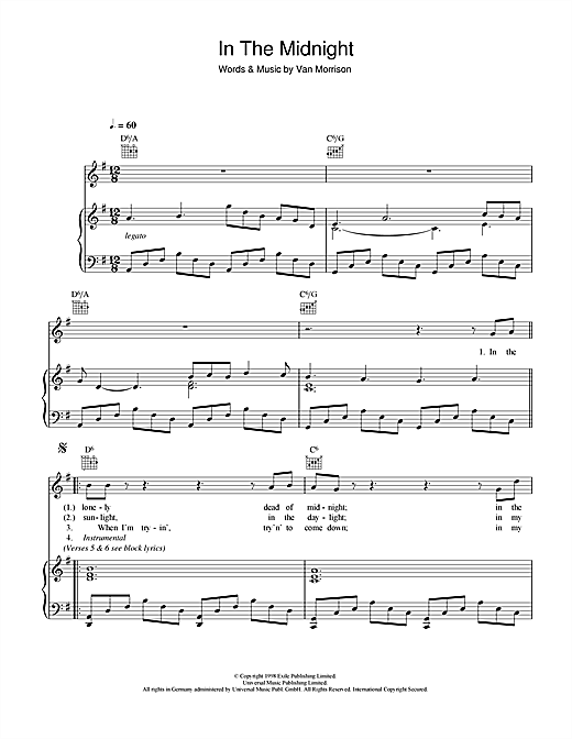 In The Midnight Sheet Music