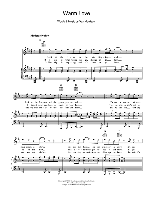 Warm Love Sheet Music